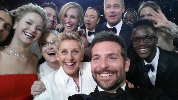 Bilden från Oscarsgalan som slog rekord på twitter